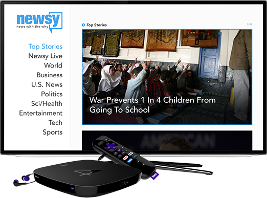 Watch Newsy On Your TV: Roku